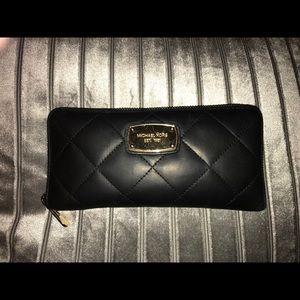 Michael Kors Hamilton Quilt Zip Around Wallet